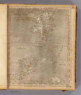 Remote British Isles. 1. Shetland Islands. 2. Islands of Scilly. 3. Jersey and Guernsey. 1. From Donelly and others. 2. From various charts. 3. From Dobree. Marshall sculp. (Published by John Conrad & Co., Philadelphia. 1804)