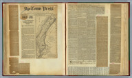 (Clippings) Harlem lands. A stupendous movement on foot to establish the claims of the heirs of the original patentees to Harlem property (text continues on verso). Up-Town Press ... vol. XVI, no. 487. New York, Saturday, May 13, 1893. (contains) Map of grants made by Govs. Nichols and Dongan to the free holders of Upper Manhattan Island, by F.W. Whittall, Engineer to His Majesty. The Rhinelander title valid. The partition suit of 1878 confirmed. Supreme Court--special term, April 20th, 1893. Question of jurisdiction. United States Circuit Court, Tunis Covert against Samuel J. Waldron et al. Harlem's heirs in court. February 15, 1887. Claiming all of Harlem. The Harlem claimants ready for work.