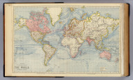 The World on Mercator's projection. Letts's popular atlas. Letts, Son & Co. Limited, London. (1883)