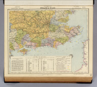 Watershed map of England & Wales. No. 6. Letts's popular atlas. Letts, Son & Co. Limited, London. (1883)