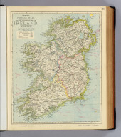 Railway & statistical map of Ireland. Letts's popular atlas. Letts, Son & Co. Limited, London. (1883)
