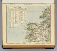 Statistical map of Ireland. No. 1. Letts's popular atlas. Letts, Son & Co. Limited, London. (1883)