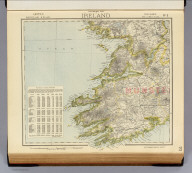 Statistical map of Ireland. No. 3. Letts's popular atlas. Letts, Son & Co. Limited, London. (1883)