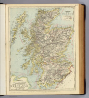 Railway & statistical map of Scotland. Letts's popular atlas. Letts, Son & Co. Limited, London. (1883)
