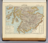 Statistical map of Scotland. No. 1. Letts's popular atlas. Letts, Son & Co. Limited, London. (1883)