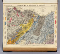 Geological map of the environs of Edinburgh. Letts's popular atlas. Letts, Son & Co. Limited, London. (1883)
