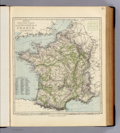 Railway and statistical map of France. Letts's popular atlas. Letts, Son & Co. Limited, London. (1883)