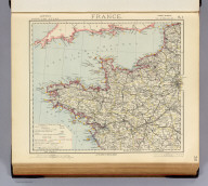 France. No. 1. Letts's popular atlas. Letts, Son & Co. Limited, London. (1883)