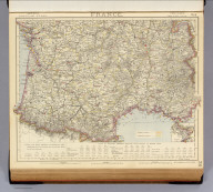 France. No. 3. Letts's popular atlas. Letts, Son & Co. Limited, London. (1883)