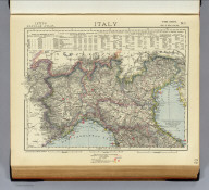 Italy. No. 1. Letts's popular atlas. Letts, Son & Co. Limited, London. (1883)