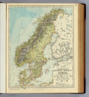 General & statistical map of Sweden, Norway and Denmark. Letts's popular atlas. Letts, Son & Co. Limited, London. (1883)