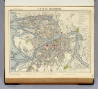 City of St. Petersburg. Letts's popular atlas. Letts, Son & Co. Limited, London. (1883)