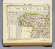 Spain & Portugal. No. 1. Letts's popular atlas. Letts, Son & Co. Limited, London. (1883)