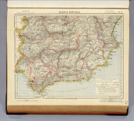 Spain & Portugal. No. 3. Letts's popular atlas. Letts, Son & Co. Limited, London. (1883)
