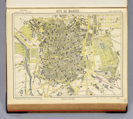City of Madrid. Letts's popular atlas. Letts, Son & Co. Limited, London. (1883)
