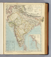 General map of India. Letts's popular atlas. Letts, Son & Co. Limited, London. (1883)