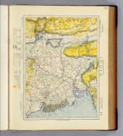 Statistical & general map of India. No. 8. Letts's popular atlas. Letts, Son & Co. Limited, London. (1883)