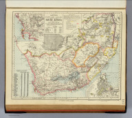 South Africa. (with) Environs of the Cape. (with) Cape-Town. Letts's popular atlas. Letts, Son & Co. Limited, London. (1883)