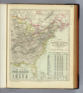 United States of North America, and part of Canada. Eastern sheet. Letts's popular atlas. Letts, Son & Co. Limited, London. (1883)