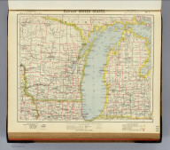 Eastern United States. No. 1. Letts's popular atlas. Letts, Son & Co. Limited, London. (1883)