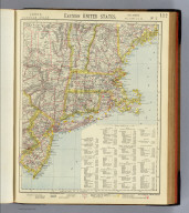 Eastern United States. No. 2. Letts's popular atlas. Letts, Son & Co. Limited, London. (1883)