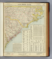 Eastern United States. No. 3. Letts's popular atlas. Letts, Son & Co. Limited, London. (1883)