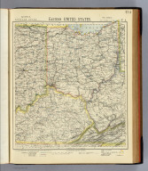 Eastern United States. No. 4. Letts's popular atlas. Letts, Son & Co. Limited, London. (1883)
