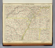 Eastern United States. No. 6. Letts's popular atlas. Letts, Son & Co. Limited, London. (1883)