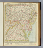 Eastern United States. No. 7. Letts's popular atlas. Letts, Son & Co. Limited, London. (1883)