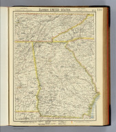 Eastern United States. No. 8. Letts's popular atlas. Letts, Son & Co. Limited, London. (1883)