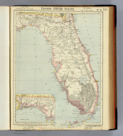Eastern United States. No. 10. Letts's popular atlas. Letts, Son & Co. Limited, London. (1883)