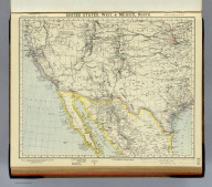 United States, West & Mexico, North. Letts's popular atlas. Letts, Son & Co. Limited, London. (1883)