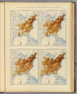 Population of the United States, excluding Indians not taxed: 1830 to 1860. 14. Distribution in 1830. 15. Distribution in 1840. 16. Distribution in 1850. 17. Distribution in 1860. Julius Bien & Co. Lith., N.Y. (1898)