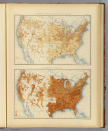 25. Increase or decrease of the rural population: 1880 to 1890. 27. Average size of families: 1890. Julius Bien & Co. Lith., N.Y. (1898)