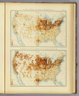 58. Density of distribution of the natives of the Germanic nations: 1890. 59. Proportion of the natives of the Germanic nations to the aggregate population: 1890. Julius Bien & Co. Lith., N.Y. (1898)
