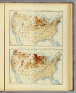 60. Density of distribution of the natives of the Scandinavian nations: 1890. 61. Proportion of the natives of the Scandinavian nations to the aggregate population: 1890. Julius Bien & Co. Lith., N.Y. (1898)