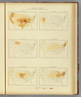 Interstate migration, density of the natives of the several states: 1890. 92. Missouri. 93. Montana. 94. Nebraska. 95. Nevada. 96. New Hampshire. 97. New Jersey. Julius Bien & Co. Lith., N.Y. (1898)
