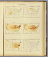 Interstate migration, density of the natives of the several states: 1890. 98. New Mexico. 99. New York. 100. North Carolina. 101. North Dakota. 102. Ohio. 103. Oklahoma. Julius Bien & Co. Lith., N.Y. (1898)