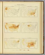 Interstate migration, density of the natives of the several states: 1890. 104. Oregon. 105. Pennsylvania. 106. Rhode Island. 107. South Carolina. 108. South Dakota. 109. Tennessee. Julius Bien & Co. Lith., N.Y. (1898)