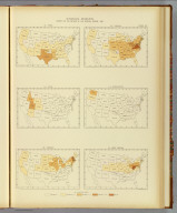Interstate migration, density of the natives of the several states: 1890. 110. Texas. 111. Utah. 112. Vermont. 113. Virginia. 114. Washington. 115. West Virginia. Julius Bien & Co. Lith., N.Y. (1898)