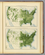 287. Value of farm products per acre: 1890. 288. Value of farm products per square mile: 1890. Julius Bien & Co. Lith., N.Y. (1898)