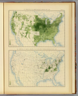 317. Production of all grains per acre of improved land: 1890. 320. Production of tobacco in relation to the entire area of tobacco-producing counties: 1890. Julius Bien & Co. Lith., N.Y. (1898)
