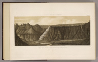 Scene at mouth of Canon of the Virgin River near Shonesburg, Utah. Wriggle Trail at the right. (From a sketch made by John E. Weyss). 1872. U.S. Geographical Surveys West of the 100th Meridian. (1889)