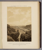 Crossing of the Colorado River near mouth of Paria Creek. Eastern edge of the Grand Canon in the distance. (Sketched by Gilbert Thompson). 1873. U.S. Geographical Surveys West of the 100th Meridian. (1889)