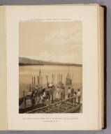 The start of the river party from Camp Mohave, Arizona. Explorations of 1871. U.S. Geographical Surveys West of the 100th Meridian. (1889)