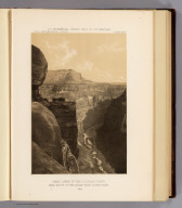 Grand Canon of the Colorado River, near mouth of the Kanab Wash, looking east. 1872. U.S. Geographical Surveys West of the 100th Meridian. (1889)