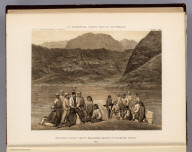 Colorado River party reaching mouth of Diamond Creek. 1871. U.S. Geographical Surveys West of the 100th Meridian. (1889)