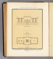 Plan and elevation of the astronomical observatory at Ogden, Utah. Erected 1873. Chs. Herman, del. U.S. Geographical Surveys West of the 100th Meridian. The Graphic Co., N.Y. (1877)