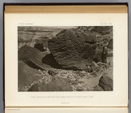 Rock carved by drifting sand, near mouth of Grand Wash, Utah. (1875)
