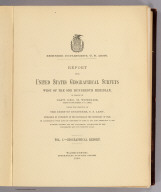 Title Page: Report U.S. Geog. Surveys West of the 100th Meridian v. 1.